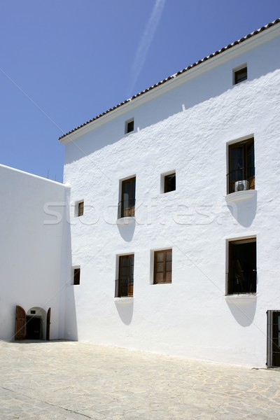 Stock photo: Ibiza Balearic Mediterranean white island in Spain