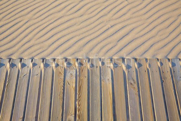 Beach wooden walkway and sand dunes texture Stock photo © lunamarina