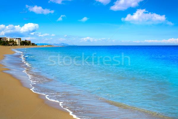Praia Espanha água natureza paisagem branco Foto stock © lunamarina