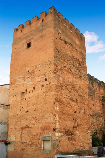 Caceres Plaza Mayor square Torre de la Hierba Stock photo © lunamarina