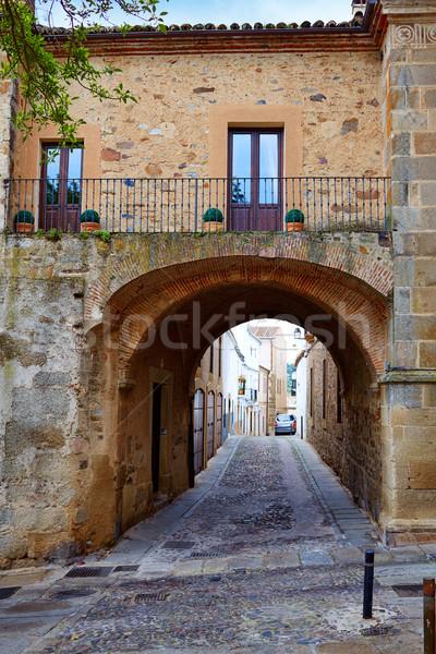 Caceres Puerta de Coria door Spain Extremadura Stock photo © lunamarina