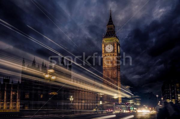 Big Ben óra torony London Anglia égbolt Stock fotó © lunamarina