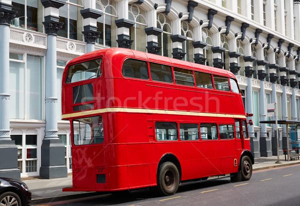 Лондон красный автобус традиционный старые Англии Сток-фото © lunamarina