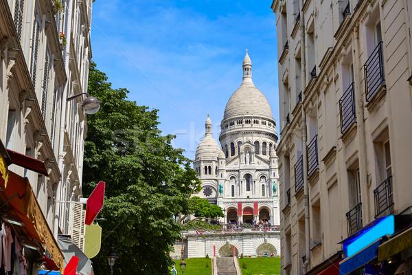 モンマルトル パリ フランス 市 青 都市 ストックフォト © lunamarina