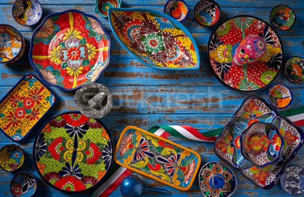 Mexicano cerámica estilo México mano pintura Foto stock © lunamarina