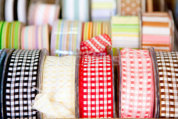 fabric tapes reels in haberdashery of vichy Stock photo © lunamarina