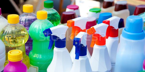 Chimiques produits nettoyage domestique maison Photo stock © lunamarina