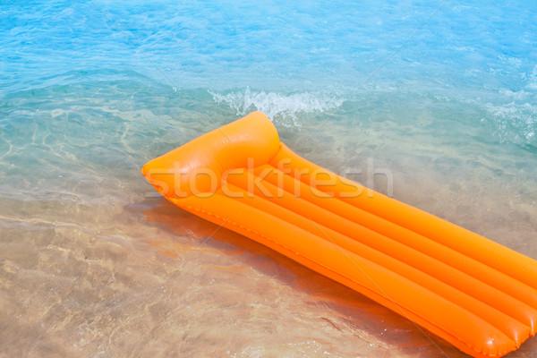 пляж берега оранжевый Lounge волны Сток-фото © lunamarina