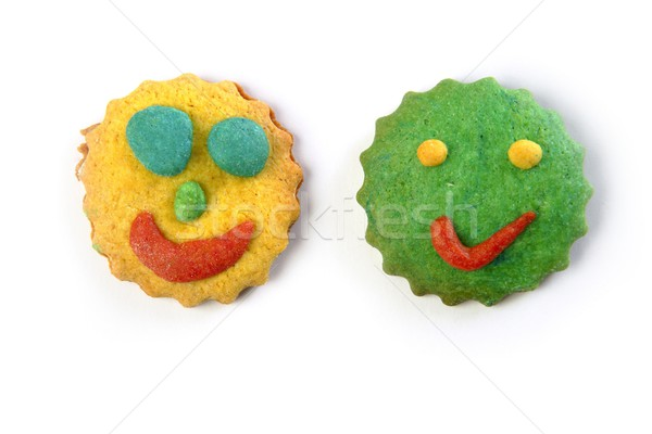 funny smiley faces biscuits colorful round shape Stock photo © lunamarina