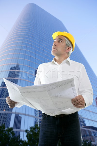 expertise architect engineer plan looking building Stock photo © lunamarina