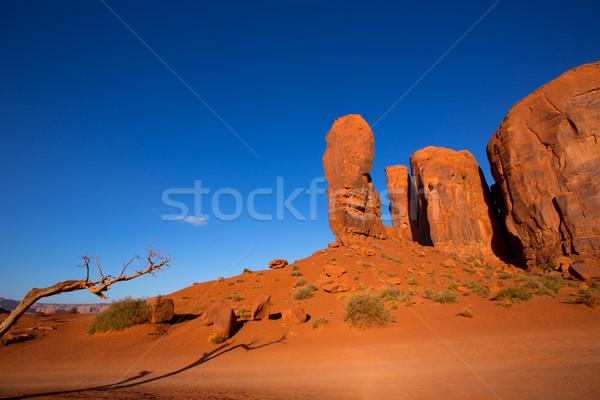 Völgy hüvelykujj Utah teve park égbolt Stock fotó © lunamarina