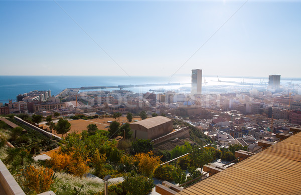 Alicante cityscape skyline in mediterranean sea Stock photo © lunamarina
