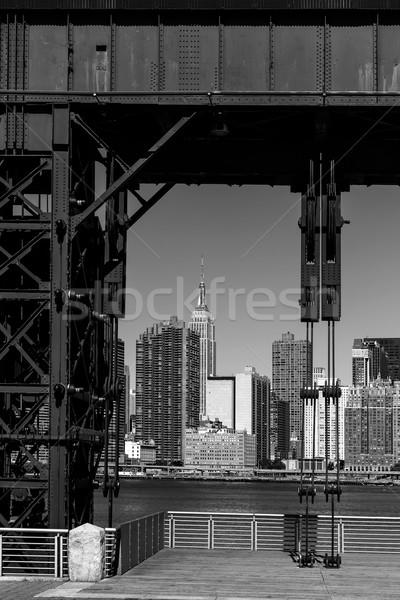 Manhattan New York skyline BW from East Stock photo © lunamarina