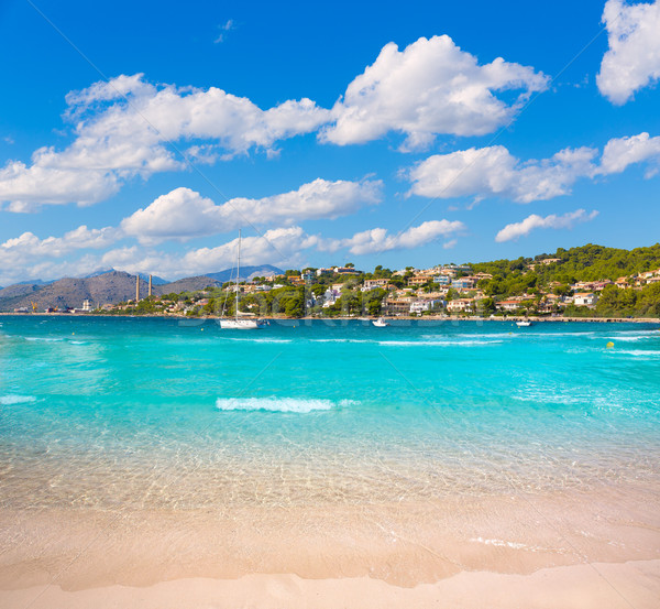 Strand majorca wolken landschap zee zomer Stockfoto © lunamarina