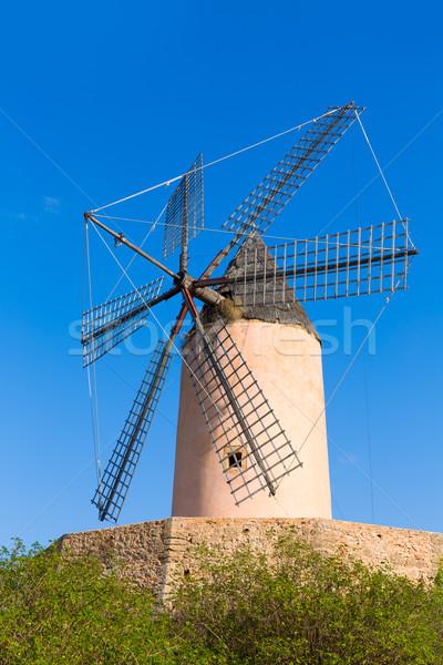 Mallorca viento molino España cielo Foto stock © lunamarina