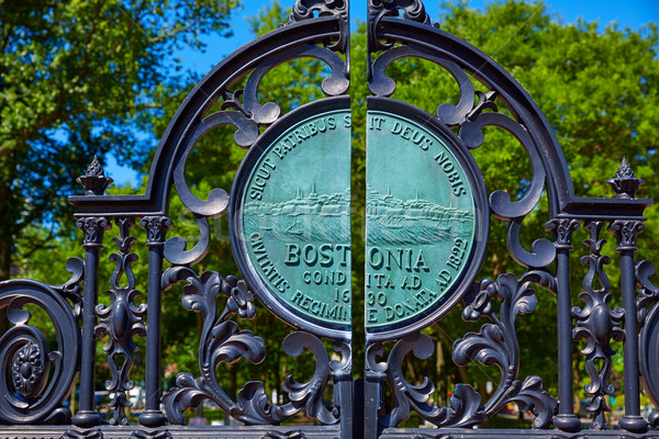 Boston parque puerta Massachusetts EUA calle Foto stock © lunamarina