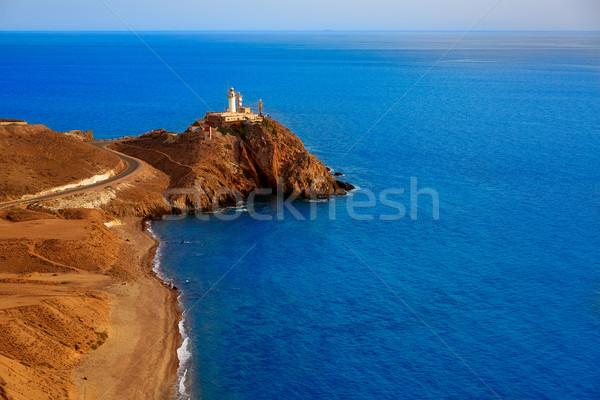ストックフォト: 灯台 · 地中海 · スペイン · 海 · 水