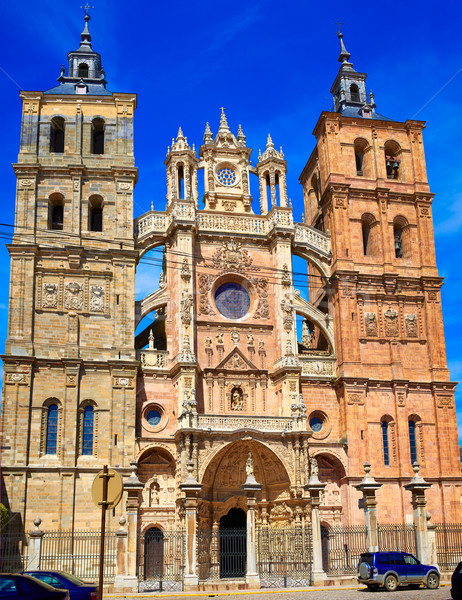 Astorga cathedral in Way of Saint James at Leon Stock photo © lunamarina