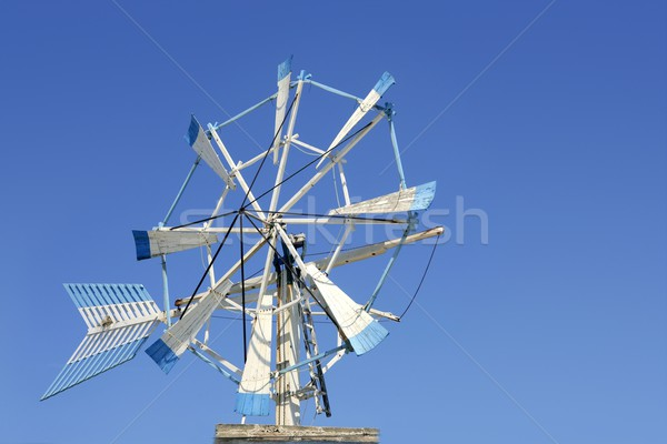 Balearic islands Formentera old wind mill Stock photo © lunamarina