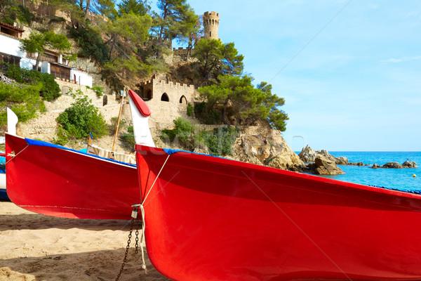 Lloret de Mar Castell Plaja at Sa Caleta beach Stock photo © lunamarina