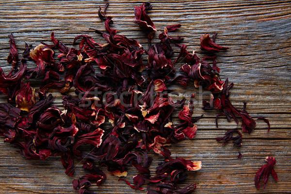 Jamaica flower for herbal iced tea from hibiscus Stock photo © lunamarina