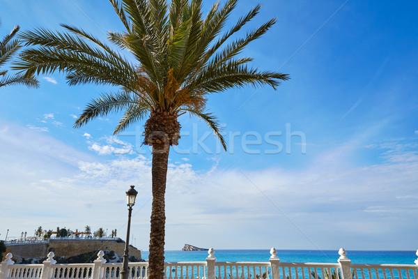 Mediterrán part Spanyolország égbolt víz város Stock fotó © lunamarina