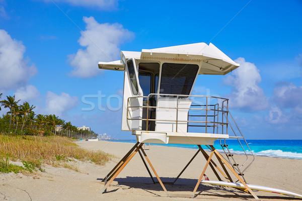 Pálma tengerpart torony Florida USA víz Stock fotó © lunamarina