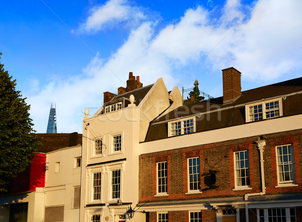 London facades old brick along Thames Stock photo © lunamarina
