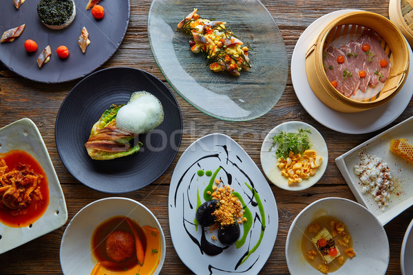 Stock photo: Molecular gastronomy recipes Modern cuisine