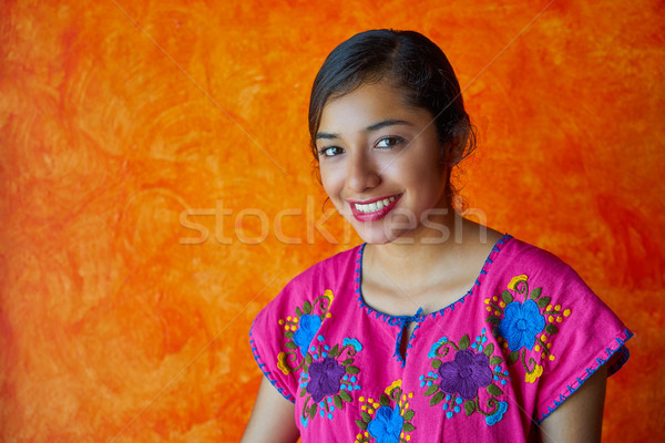 Mexican woman with mayan dress latin Stock photo © lunamarina
