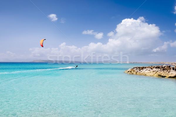 ビーチ ターコイズ 楽園 熱帯 地中海 水 ストックフォト © lunamarina