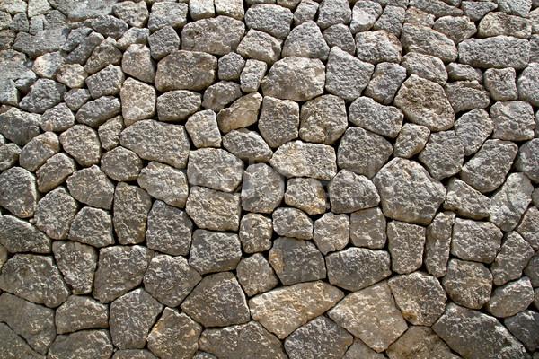 Gris calcaire maçonnerie mur typique majorque Photo stock © lunamarina