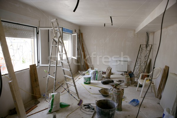 messy room during contruction improvement Stock photo © lunamarina