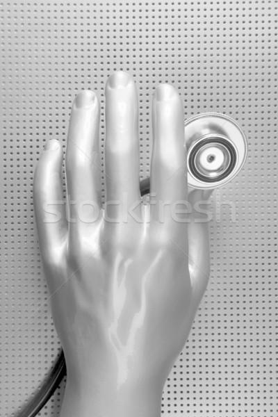 Zdrowia stetoskop futurystyczny srebrny strony szary Zdjęcia stock © lunamarina