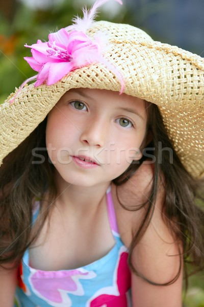 Closeup portrait of beautiful teen girl  Stock photo © lunamarina