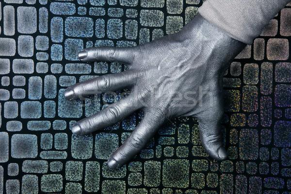 Futuriste homme argent main acier Photo stock © lunamarina