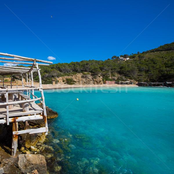 Ibiza Cala Benirras beach in san Joan at Balearic Stock photo © lunamarina