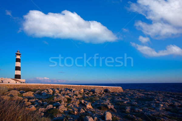 Menorca Cap de Artrutx Lighthouse in southwest cape Stock photo © lunamarina