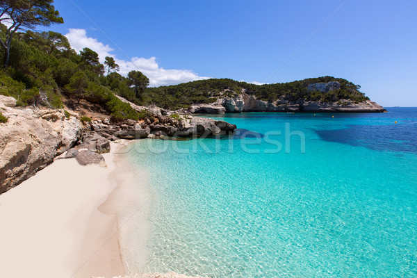 Cala Mitjaneta in Menorca Ciutadella at Balearics Stock photo © lunamarina