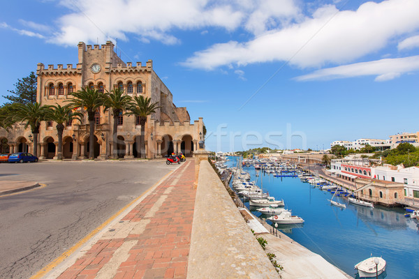 Ciutadella Menorca city Town Hall and Port in Ciudadela at Balearic islands Stock photo © lunamarina