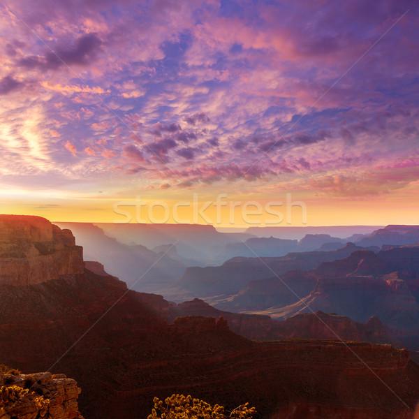 Arizona Sonnenuntergang Grand Canyon Park Punkt USA Stock foto © lunamarina