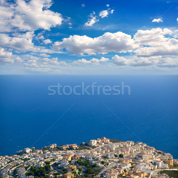 白 海岸 青 地中海 表示 ビーチ ストックフォト © lunamarina