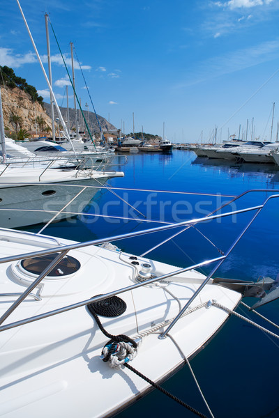 Moraira Alicante marina in Mediterranean sea Stock photo © lunamarina