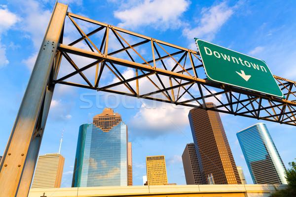 Panoramę centrum zachód Texas niebo miasta Zdjęcia stock © lunamarina