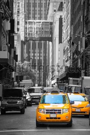 New York West Village in Manhattan yellow cab Stock photo © lunamarina