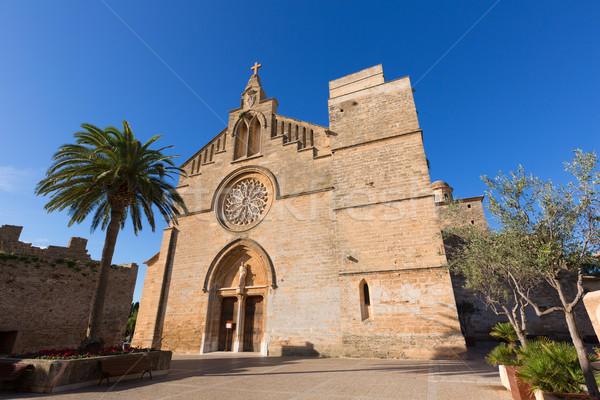 Barrio antiguo iglesia mallorca isla España calle Foto stock © lunamarina
