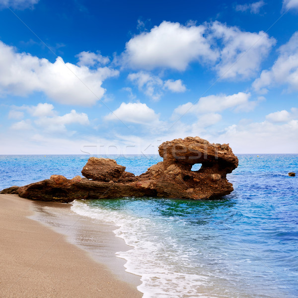 ビーチ 地中海 海 スペイン 雲 背景 ストックフォト © lunamarina