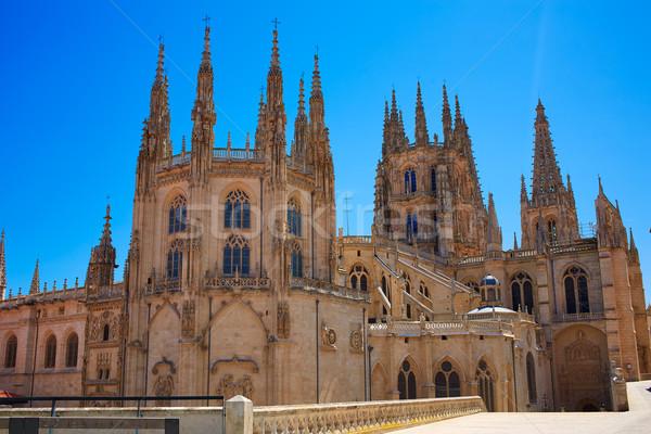 Burgos Cathedral rear facade Saint James Way Stock photo © lunamarina