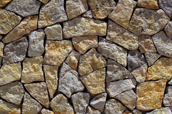 Kőművesmunka kőfal kő építkezés minta textúra Stock fotó © lunamarina