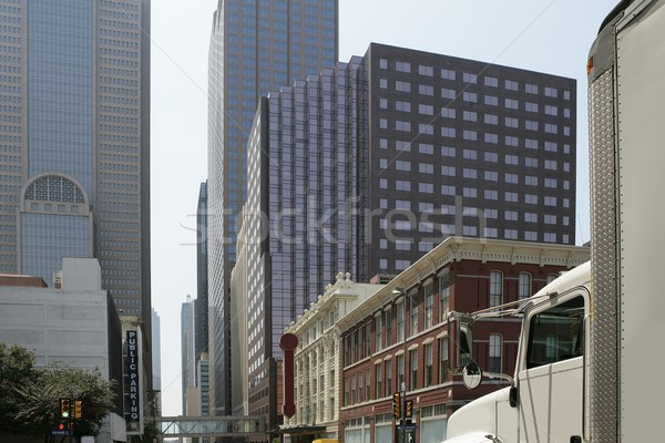 Dallas centro de la ciudad ciudad edificios mixto urbanas Foto stock © lunamarina
